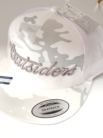 Copy of Outsiders Dove Logo | Snow Camo Snapback