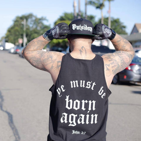 Born Again | Black Tank Top