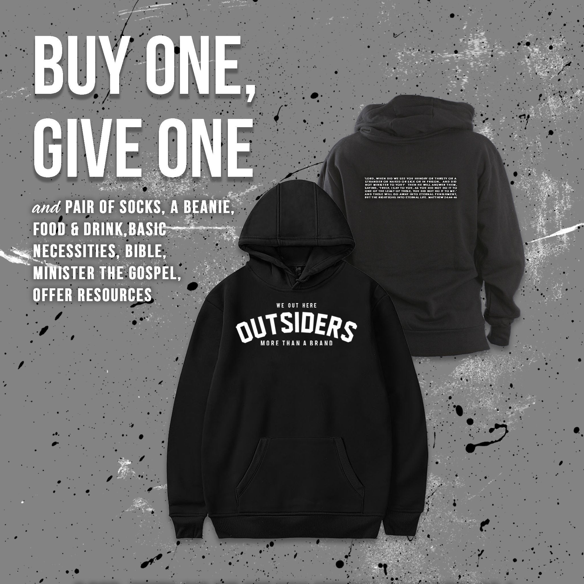 Outsiders Brand Fearless Warrior Hooded Sweatshirt