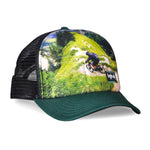 OG Debossed Sublimated Biker Forest Green