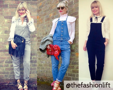 Fran Bacon from @thefashionlift does dungarees so well!