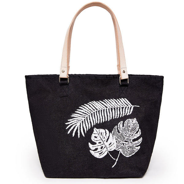 Black Jungle Tote - Medium