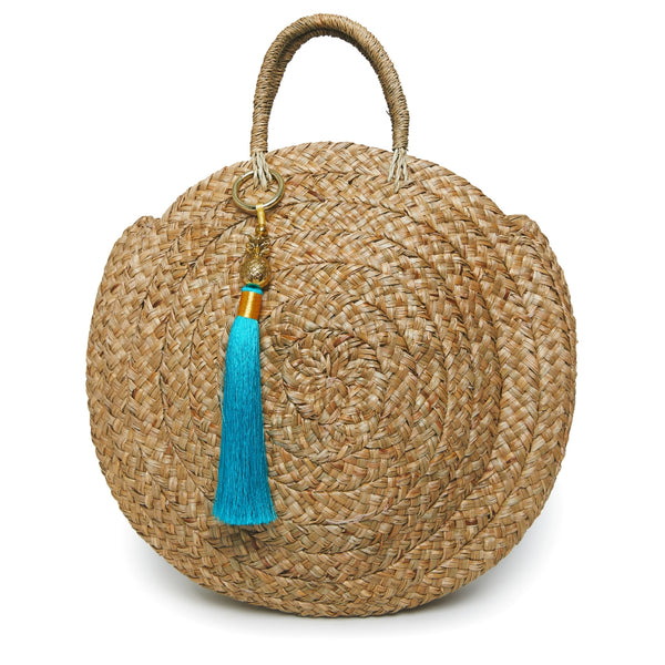 Bobbie Round Basket Bag - Natural