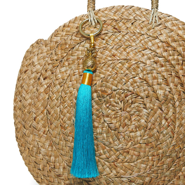 Pineapple Tassel Bag Charm - Gold + Various Colours
