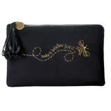 Bee Pouch Hand-embroidered Clutch