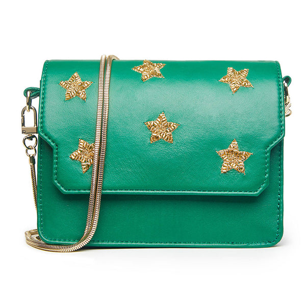 "Betsy Mini Bag - Emerald Green ""Stars"""