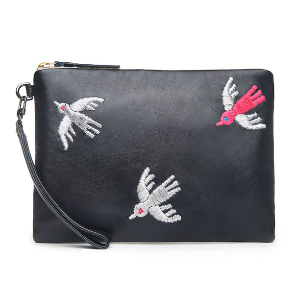 Fly Away Bird - Black Pouch