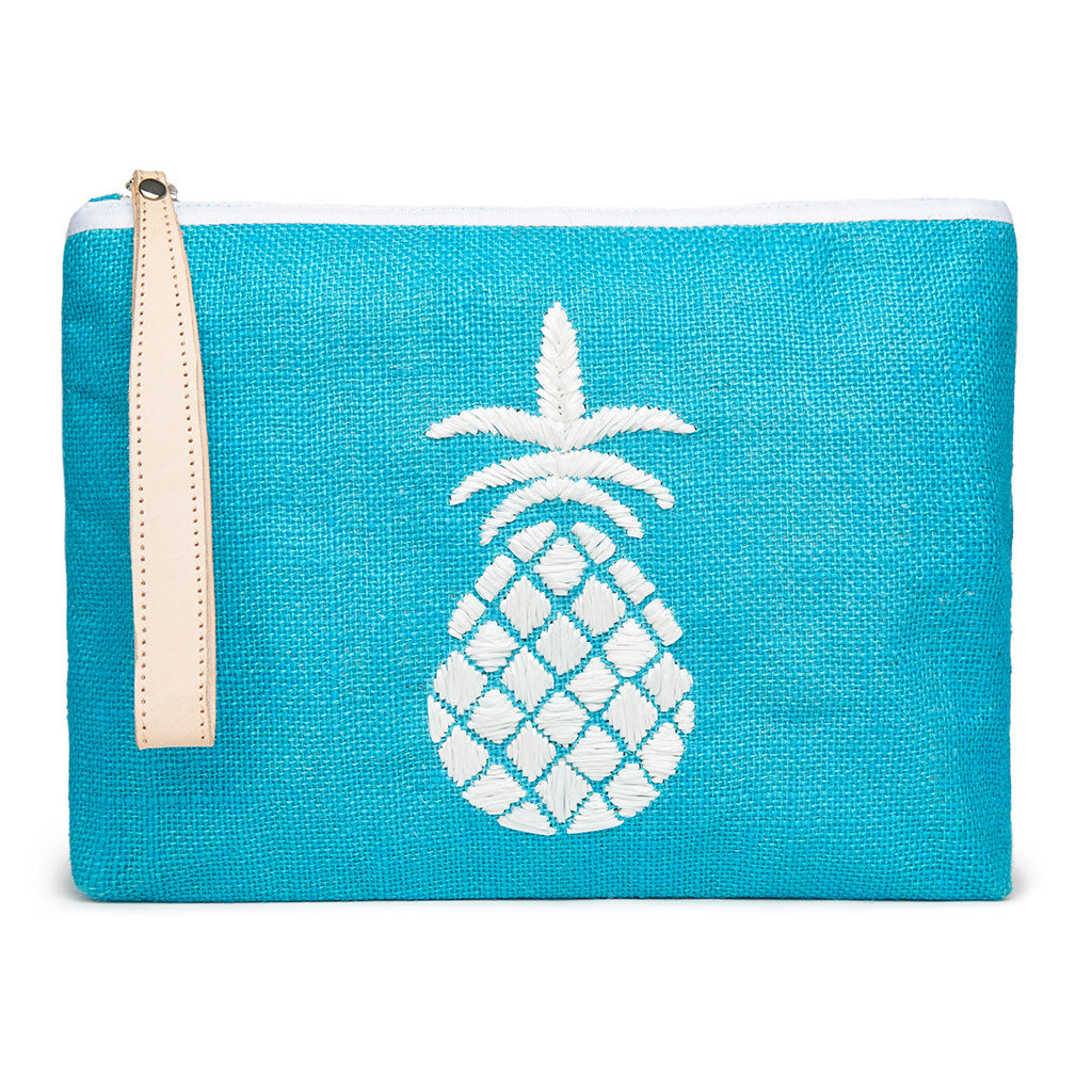Maisie Pineapple Pouch - Teal