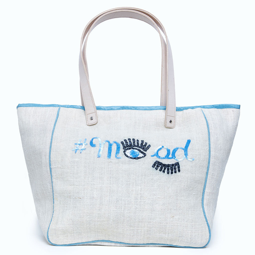 Beach Bag Large - #MOOD Eyes Ecru