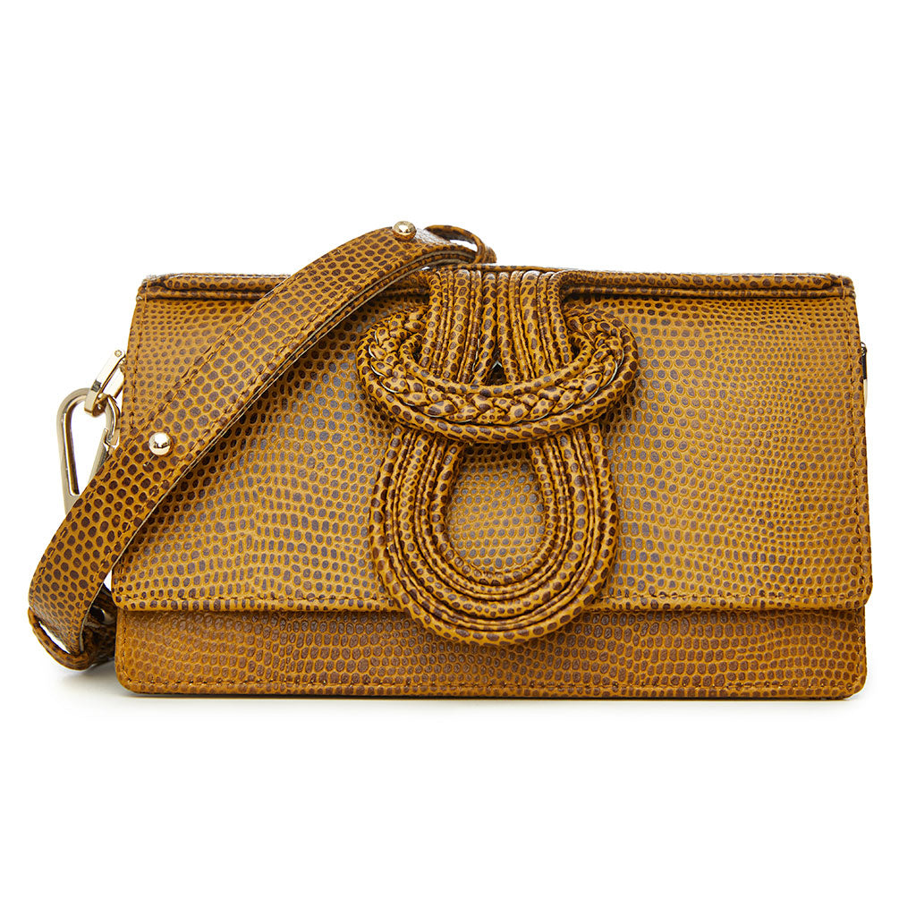 Nell Knot - Lizard Embossed Tan