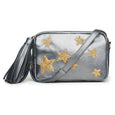 "Felix Camera Bag - Pewter Metallic ""Stars"""