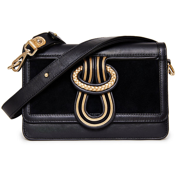 Ava Shoulder/Crossbody - Black & Gold