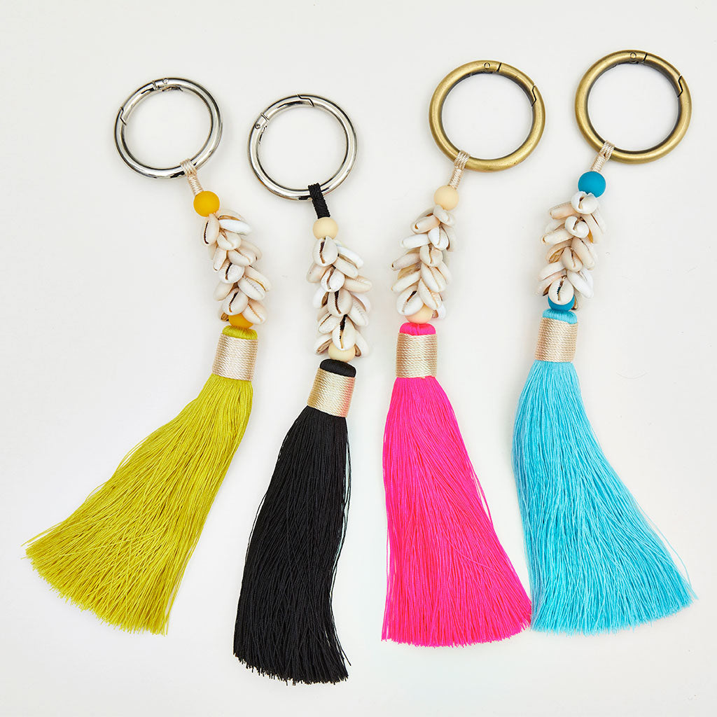 Cowrie Shell Tassel Bag Charms