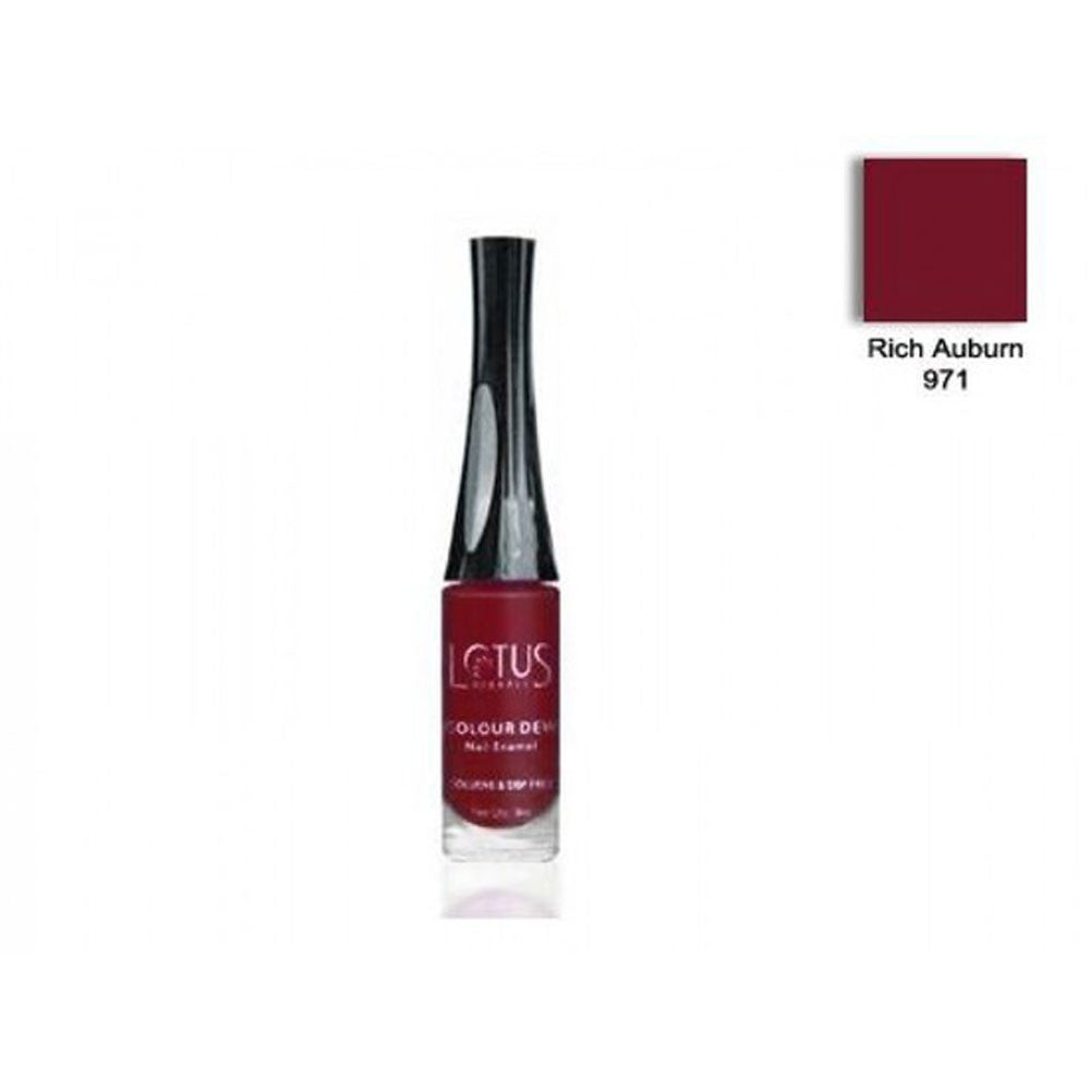 Lotus Herbals Colour Dew (971, Rich Auburn) Nail Enamel (Toluene and DBP  Free)