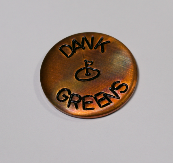 Dank Greens Solid Brass Ball Marker