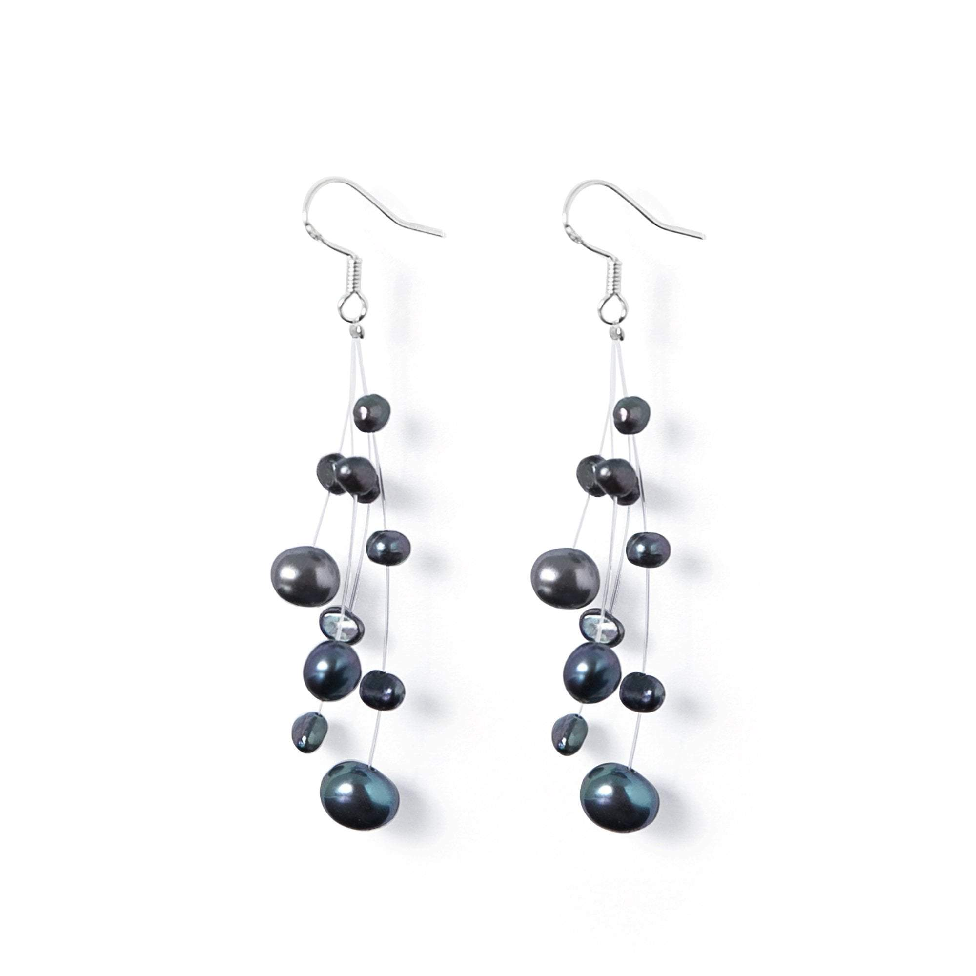 Boucles Perles de Culture d'Eau Douce - Constellation - Nuit