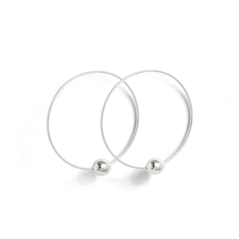 Boucles Perles de Culture d'Eau Douce - Silver loop -