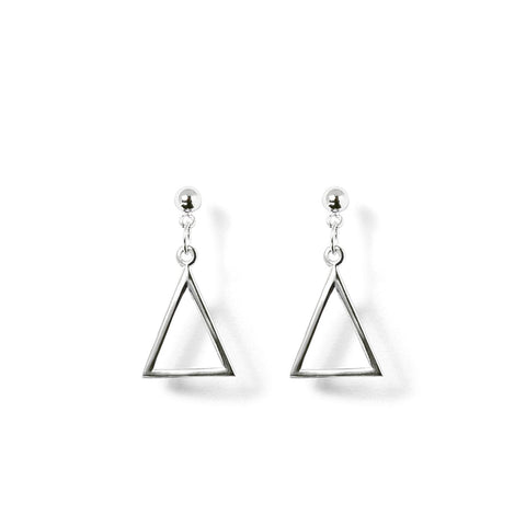 Boucles Perles de Culture d'Eau Douce - Triangle Suspendu -