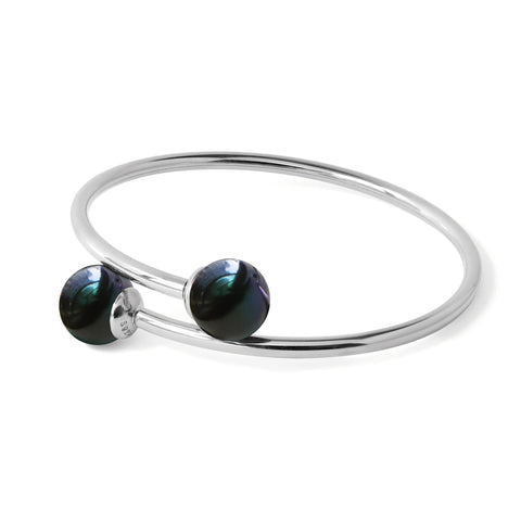 Bracelet Perles de Culture d'Eau Douce - Charmeuse Perfection - Nuit d'Abysses
