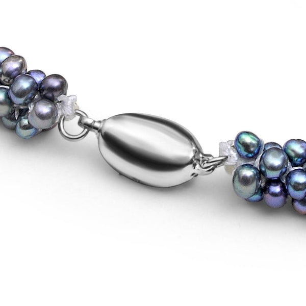 Braided Pearl Necklace - Night