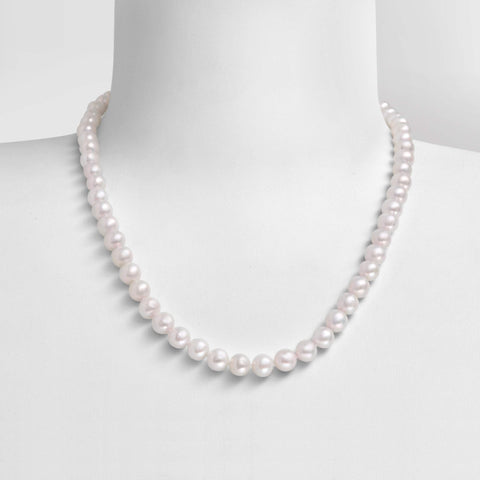 "Collier Perles de Culture d'Eau Douce - ""Princesse"" - Neige"