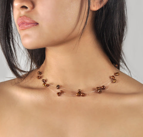 Collier Perles de Culture d'Eau Douce - Constellation - Cuivre
