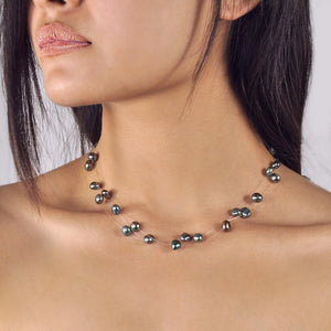 Collier Perles de Culture d'Eau Douce - Constellation - Nuit