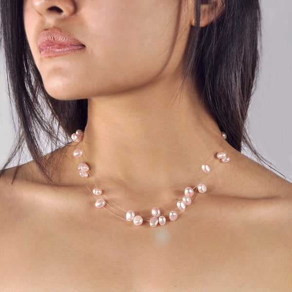 Collier Perles de Culture d'Eau Douce - Constellation - Lilas