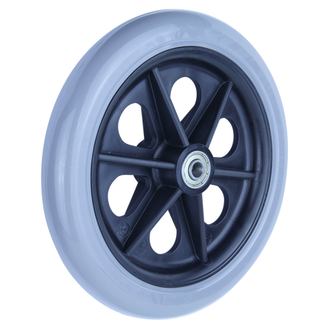 REX 7 Inch X 1 Inch Wheel 30 Kg <span>Grey Rubber Wheel</span>