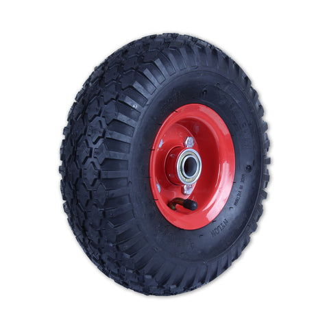 350X4STR-SB58 180kg Steel Centre Pneumatic Wheel