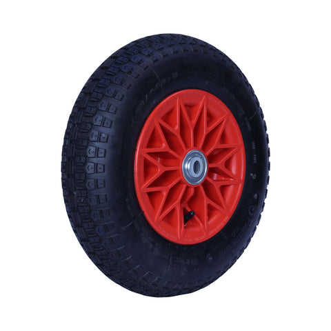 400X8KNO-PWB20 200 Kg <span>Plastic Centre Pneumatic Wheel</span>