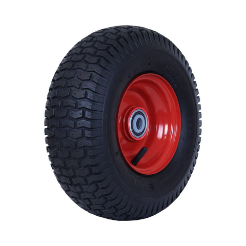 500X6GRA-SQ58 220 Kg <span>Steel Centre Pneumatic Wheel</span>