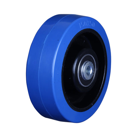 BP15050B 250 Kg <span>Blue Rubber Wheel</span>
