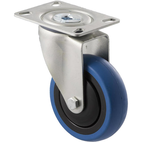CBQ100G/MZP <span>100 Kg Swivel Plate 100mm Blue Rubber</span>
