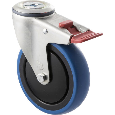 CBQ125G/MZHTB <span>100 Kg Bolt-Hole Total Brake 125mm Blue Rubber</span>