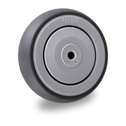 GRQ100SS 100 Kg 100mm<span>Grey Rubber Wheel - Stainless Steel</span>