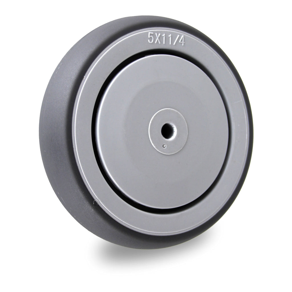 GRQ125SS 100 Kg <span>Grey Rubber Wheel - Stainless Steel</span>