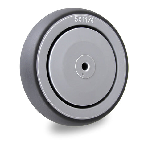 GRQ125SS 100 Kg 125mm<span>Grey Rubber Wheel - Stainless Steel</span>