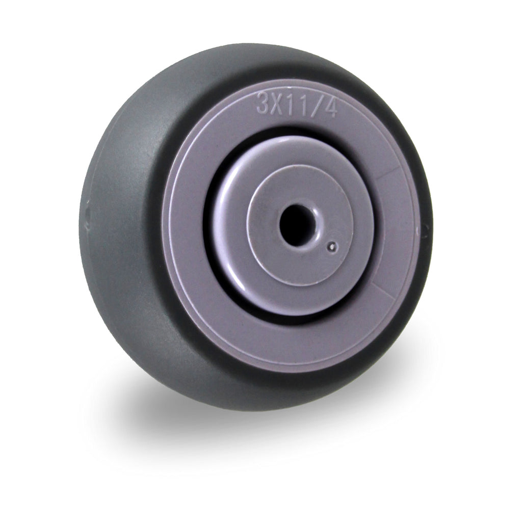 GRQ75SS 85 Kg 75mm<span>Grey Rubber Wheel - Stainless Steel</span>