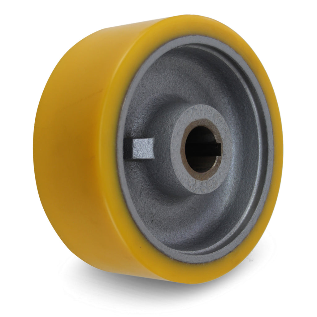 GTHN202/35H7 200mm x 80mm <span>Polyurethane on Cast Iron Drive Wheel w/ H7 Keyway</span>