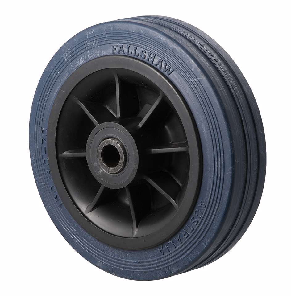 HBR150 230 Kg Blue Rubber Wheel