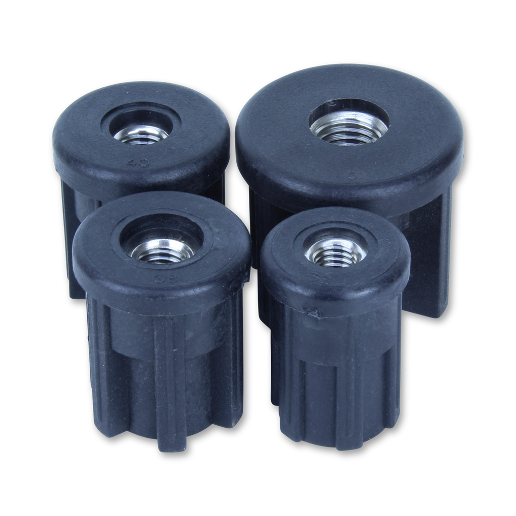 81/32/M12 32mm Round S/S Threaded Tube Insert
