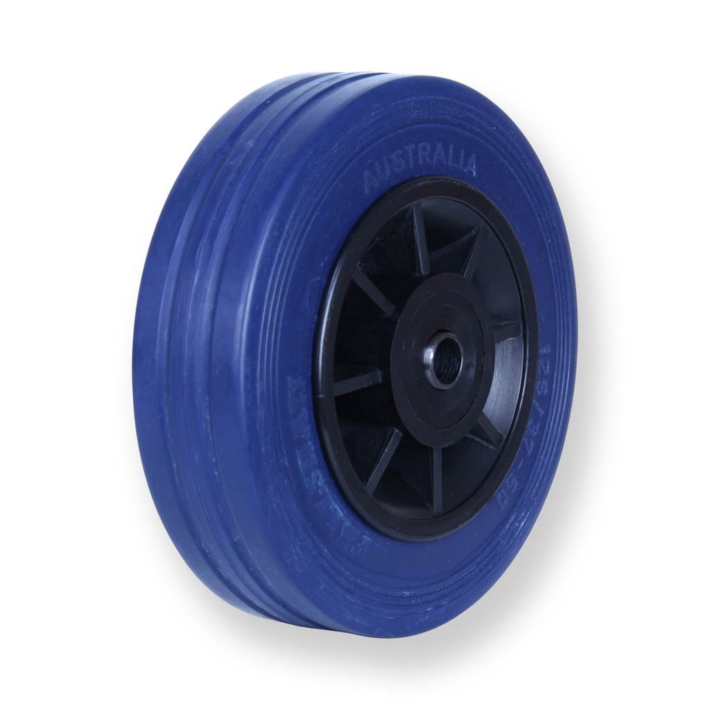JBA125 180 Kg Blue Rubber Wheel