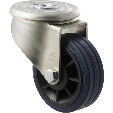 JBR100/JZH <span>150 Kg Bolt-Hole 100mm Blue Rubber</span>