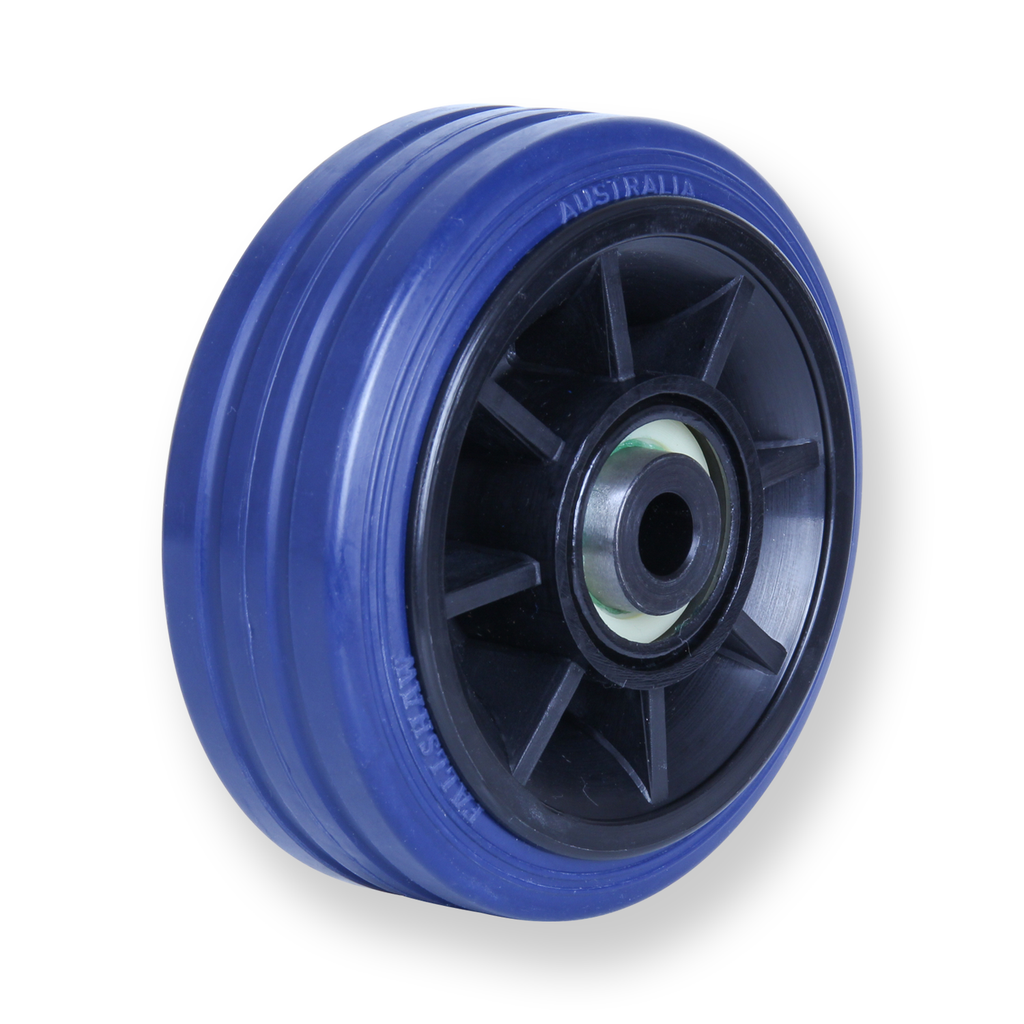 JBR100 150kg Blue Rubber Wheel