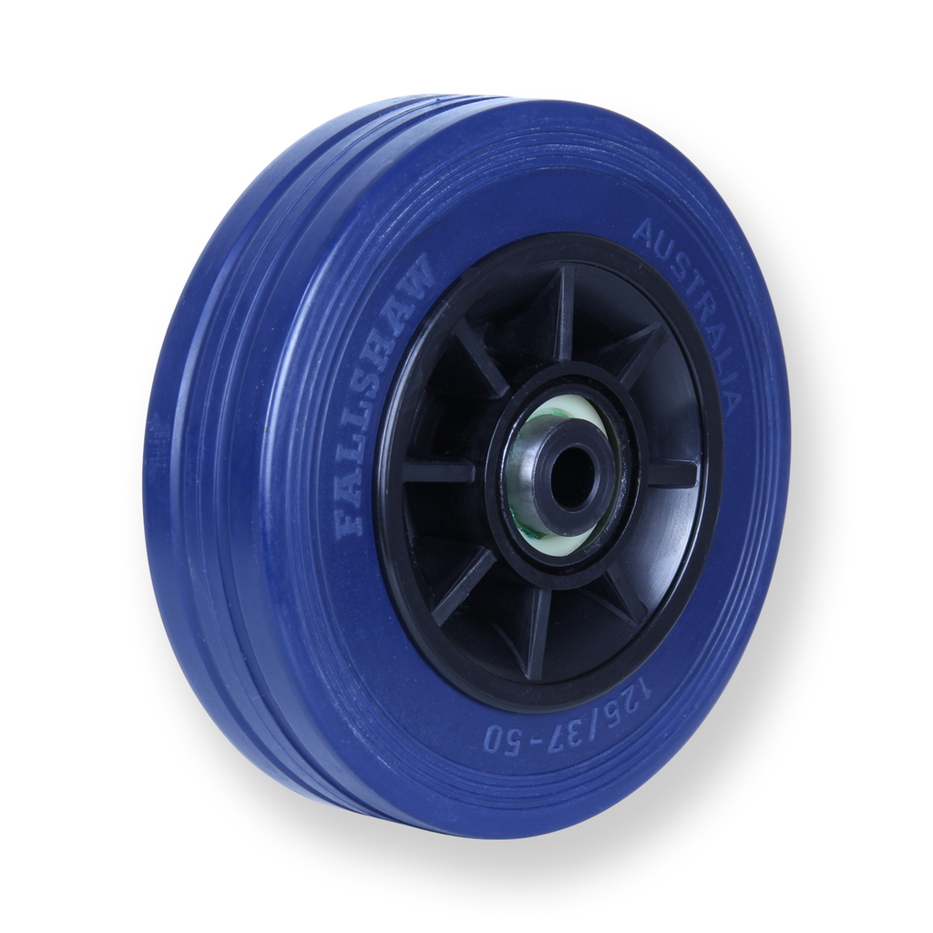 JBR125 180 Kg Blue Rubber Wheel