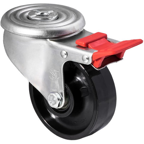 JNR100/JZHTB <span>300 Kg Bolt-Hole Total Brake 100mm Black Nylon</span>