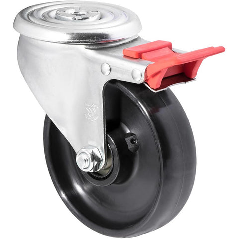 JNR125/JZHTB <span>300 Kg Bolt-Hole Total Brake 125mm Black Nylon</span>