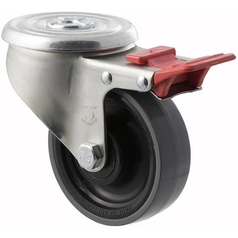 JUR100/JZHTB <span>300 Kg Bolt-Hole Total Brake 100mm Polyurethane</span>