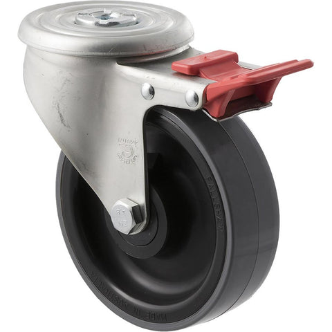 JUR125/JZHTB <span>300 Kg Bolt-Hole Total Brake 125mm Polyurethane</span>